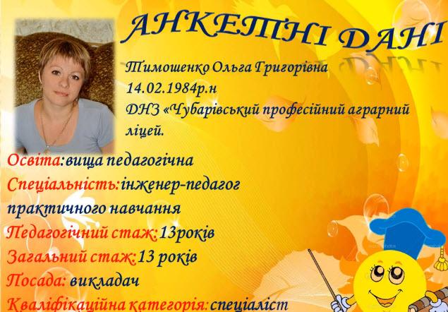 портфолио Тимошенко